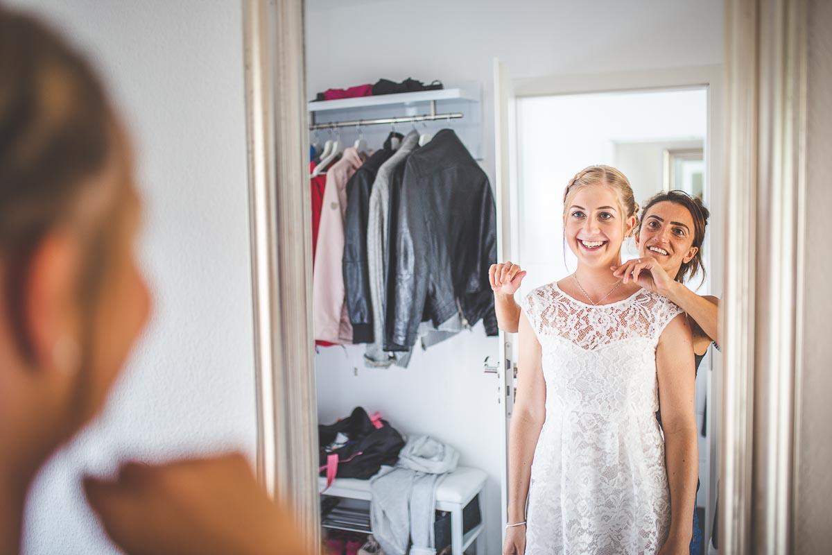 Hochzeitsfotograf Dominik Sackmann - lichtwerk Foto Video Grafik - Freiburg, Kirchzarten, Dreisamtal - Hochzeit Müllheim Lächeln